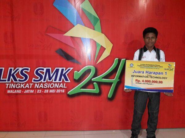 Juara Harapan 1 Lomba IT Network System Administration Tingkat Nasional Tahun 2016