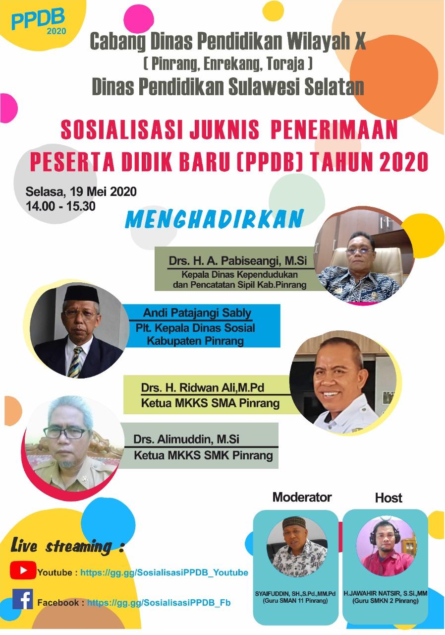 Sosialisasi Juknis Penerimaan Peserta Didik Baru (PPDB) Tahun 2020