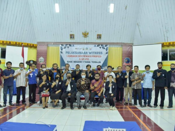 Witness Lembaga Sertifikasi Profesi (LSP) SMK Negeri 1 Tana Toraja