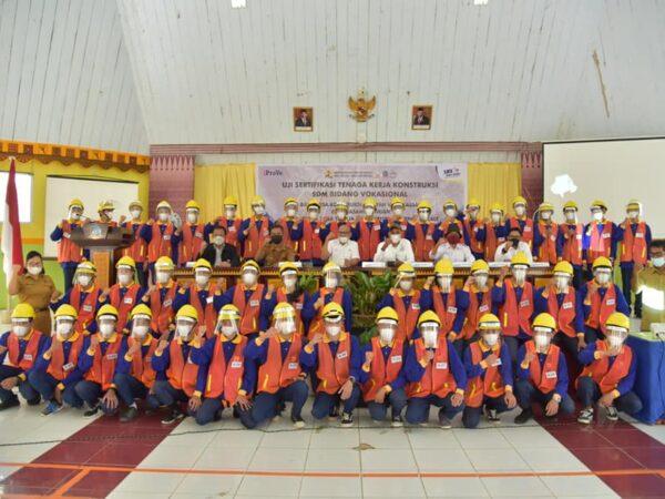 Uji Sertifikasi Tenaga Kerja Konstruksi SDM Bidang Vokasional oleh Balai Jasa Konstruksi Wilayah VI Makassar